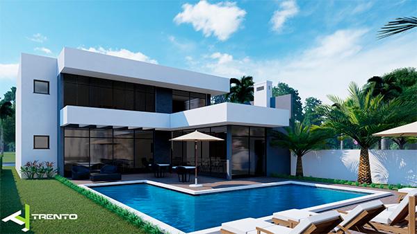 Projeto casa com piscina em guaratuba foto 01