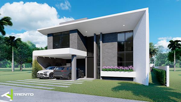 Projeto casa com piscina em guaratuba foto 03