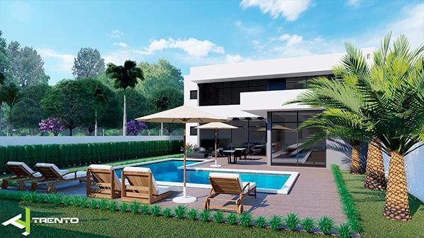 Projeto casa com piscina em guaratuba foto 04